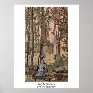 Señora In The Forest By Giovanni Fattori Impresiones