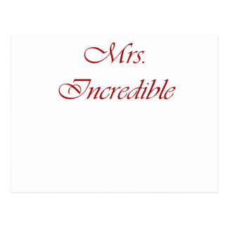 Señora Incredible Tarjetas Postales