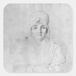 Señora Ingres Mere 1814 Pegatina Cuadrada