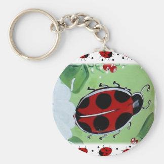 Señora-Insecto Llavero Redondo Tipo Pin