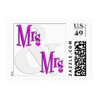 Señora inspirada retra. Y señora Heart Stamps Sello