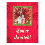 Señora Invitation del Poinsettia Anuncios