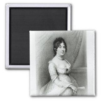 Señora James Madison, Dolley Payne, c.1804-55 Imán Cuadrado