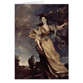Señora Jane Halliday By sir Joshua Reynolds Tarjeta