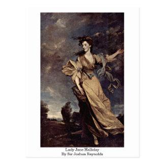 Señora Jane Halliday By sir Joshua Reynolds Tarjeta Postal