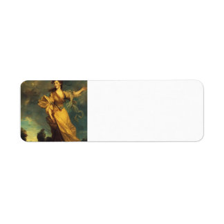 Señora Jane Halliday de Joshua Reynolds Etiqueta De Remite