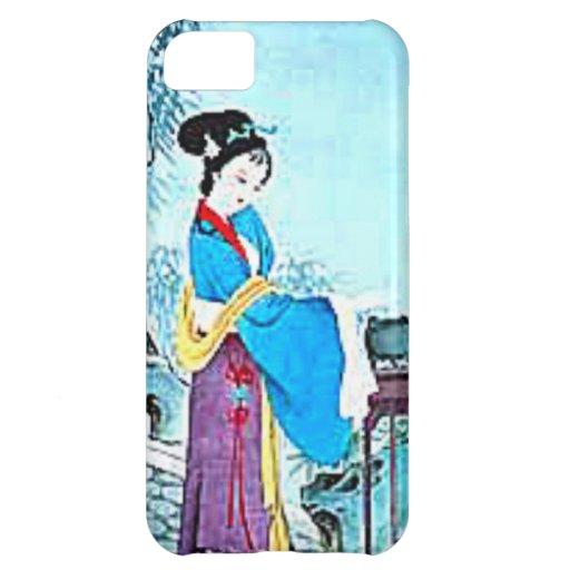 Señora japonesa en azul