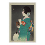 Señora japonesa Holding Cage de luciérnagas - 1931 Impresiones