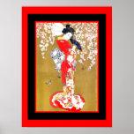 Señora japonesa Vintage Poster 2 del geisha del