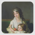 Señora Jeanne-Justine Boyer-Fonfrede y ella Calcomania Cuadradas