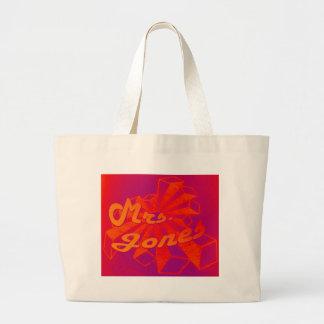 Señora Jones-Estrella Logotipo-Naranja Starburst Bolsa
