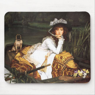 Señora joven de James Tissot en un cojín de ratón Alfombrilla De Raton