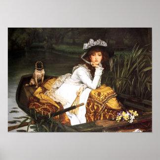 Señora joven de James Tissot en un poster del barc