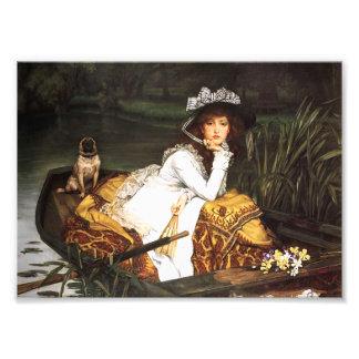 Señora joven de James Tissot en una impresión del  Arte Fotografico