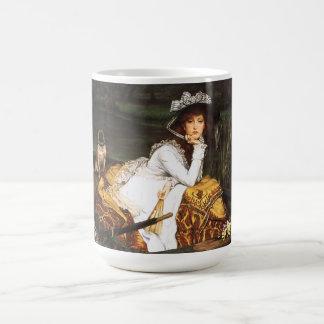 Señora joven de James Tissot en una taza del barco