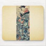 Señora joven que lee una letra por Utagawa, Kuniyo Tapetes De Ratón