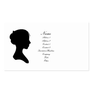 Señora joven silueta (versión 2) plantilla de tarjeta de negocio