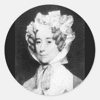 Señora Juan Quincy First señora 1825 - 1829 del ~ Pegatinas Redondas
