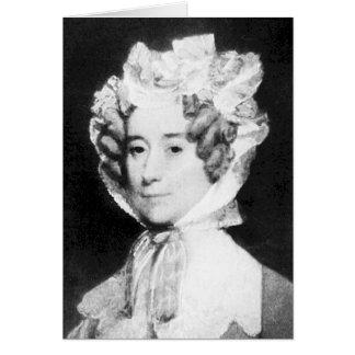 Señora Juan Quincy First señora 1825 - 1829 del Tarjetón