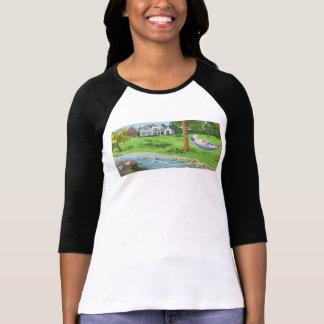 Señora jubilada en camiseta de la hamaca