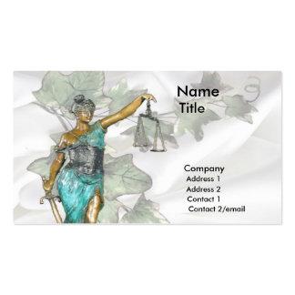 Señora Justice 1 Plantillas De Tarjetas Personales
