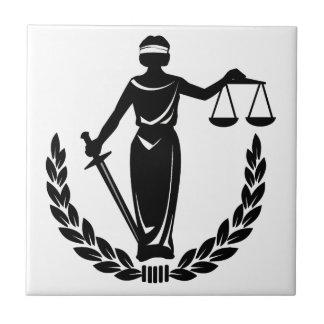 Señora Justice Azulejo Cuadrado Pequeño