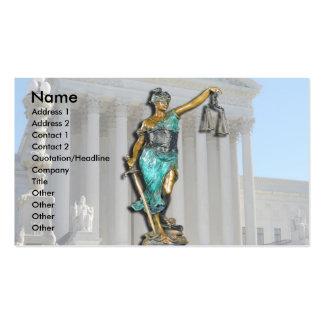 Señora Justice en Tribunal Supremo Tarjetas De Visita