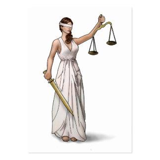 Señora Justice Illustration Tarjetas De Visita Grandes