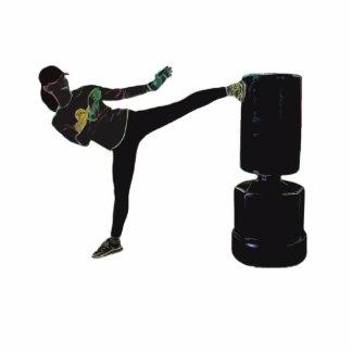 ¡Señora Kickboxer! Fotoescultura Vertical