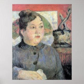 Señora Kohler de Eugène Enrique Paul Gauguin Poster