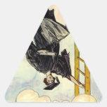 Señora Ladder de la graduación de los pegatinas Calcomanías Trianguloes