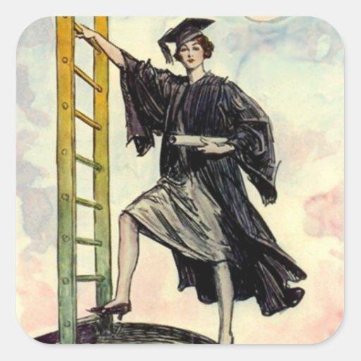 Señora Ladder de la graduación del vintage de los Colcomania Cuadrada