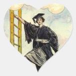 Señora Ladder de STICKERSGraduation del corazón Pegatina Corazón Personalizadas