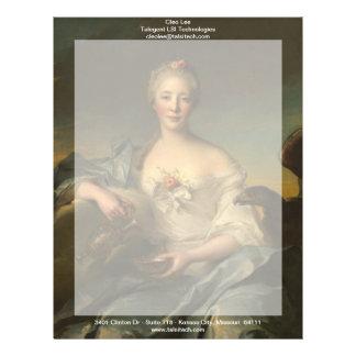 Señora Le Fèvre de Caumartin como Hebe Plantilla De Membrete