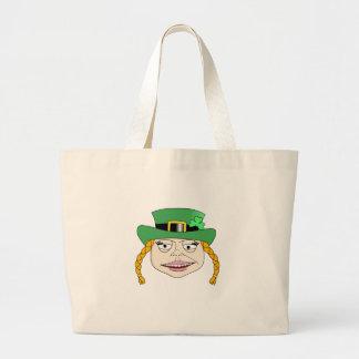 Señora Leprechaun Bolsa Tela Grande