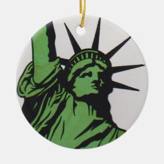 SEÑORA libertad por el ornamento 007 de David Smit Adorno De Navidad