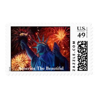 Señora Liberty América el franqueo hermoso Sellos Postales