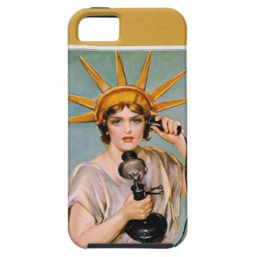 Señora Liberty Calling iPhone 5 Case-Mate Carcasas