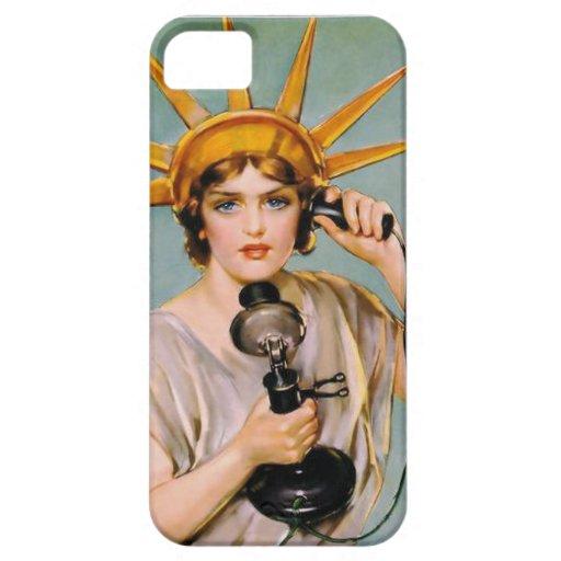 Señora Liberty Calls Collect iPhone 5 Fundas