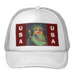 Señora Liberty - casquillo del vuelo Gorras De Camionero