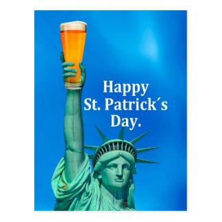 Señora Liberty celebra un día feliz de St.patricks Postales