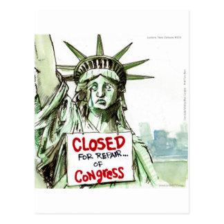 Señora Liberty Closed For Repair del congreso dive Postales