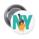 Señora Liberty de Nueva York Pin Redondo 5 Cm