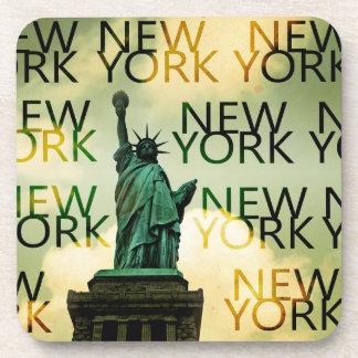 Señora Liberty de Nueva York Posavasos