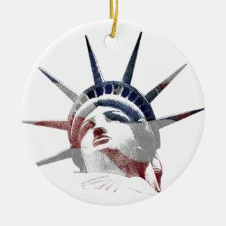 Señora Liberty Ornaments Para Arbol De Navidad