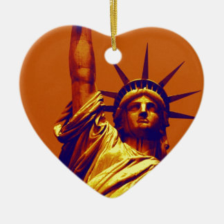 Señora Liberty del arte pop Ornamento Para Arbol De Navidad
