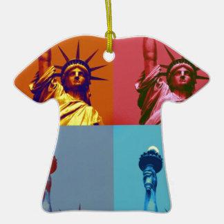 Señora Liberty del arte pop Ornamento Para Reyes Magos