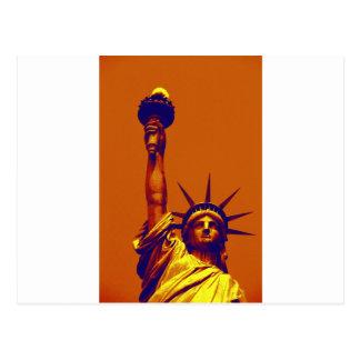 Señora Liberty del arte pop Postal