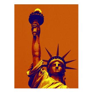 Señora Liberty del arte pop Postales