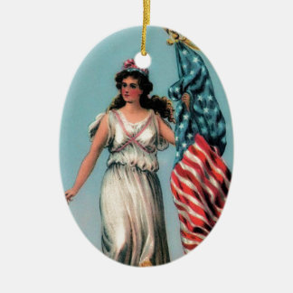 Señora Liberty del vintage Ornamento De Reyes Magos